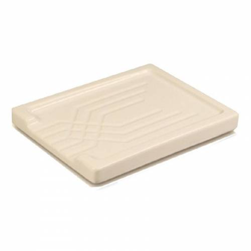 Shaws Large Fluted Ceramic Drainer in Biscuit