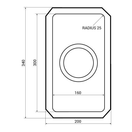 Bluci ORBIT 22 Half Bowl Undermount Kitchen Sink Dimensions