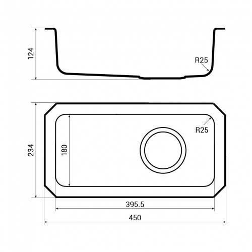 Bluci Orbit 30 undermounted full depth kitchen sink dimensions