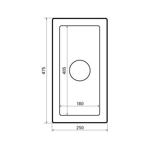 Bluci Vecchio-G7 0.5 Bowl Ceramic Kitchen Sink Dimensions