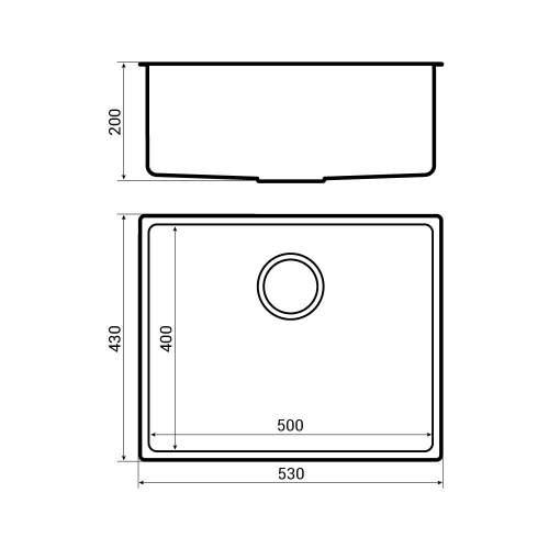 Bluci Acute 04 Large Bowl Kitchen Sink Dimensions