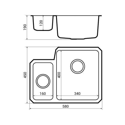 Bluci ORBIT 01 Undermount 1.5 Bowl Kitchen Sink