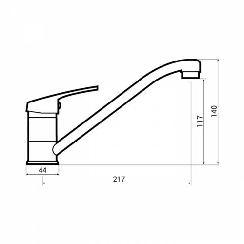 Bluci Pianuro WRAS Approved Single Lever Kitchen Tap Dimensions