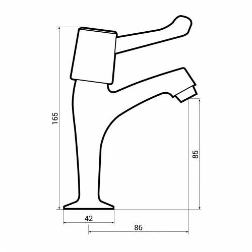 Bluci Pilastro WRAS Approved Single Lever Kitchen Pillar Taps Dimensions