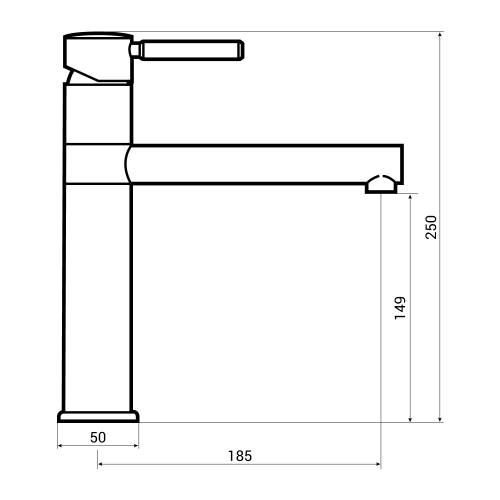 Bluci ELLERO Single Lever WRAS Approved Kitchen Tap Dimensions