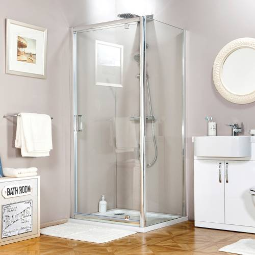 Aquabro Adjustable Shower Pivot Door