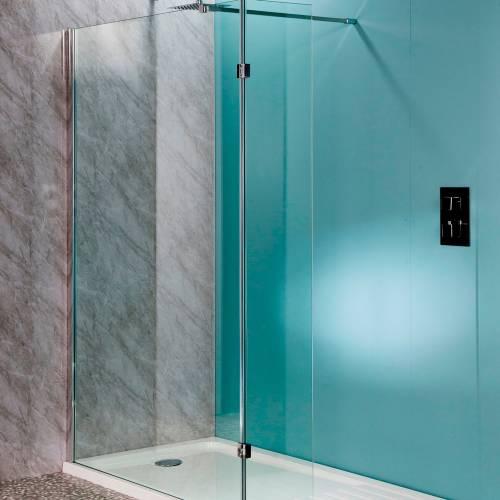 Aquabro 300mm Hinged 10mm Wetroom Flipper Panel