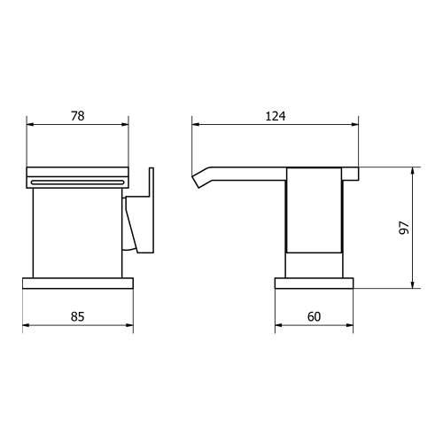 Aquabro FAZENDA Monobloc Basin Mixer Tap Dimensions