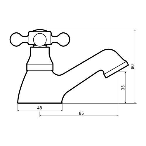 Aquabro Albert Bathroom Bath Tap Dimensions