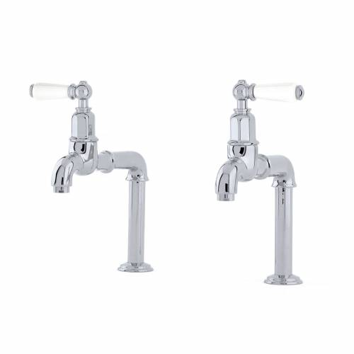 Perrin and Rowe 4332 Mayan Bibcock Handle Kitchen Tap in Chrome
