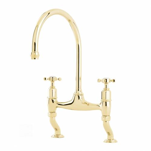 Perrin and Rowe Ionian 4192 Kitchen Tap in Gold