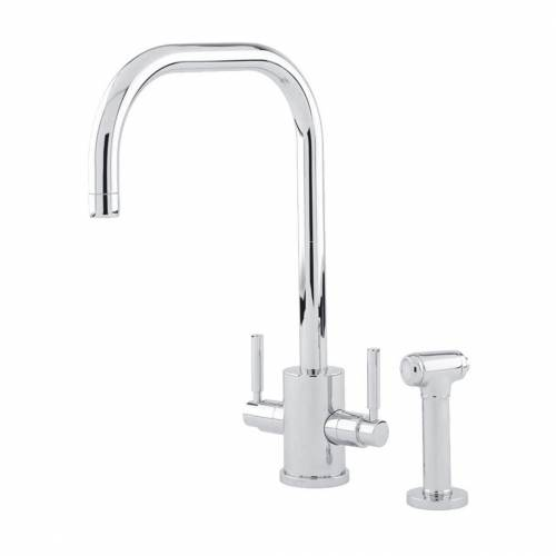 Perrin and Rowe ORBIQ 'U' Spout Kitchen Tap with Rinse in Chrome