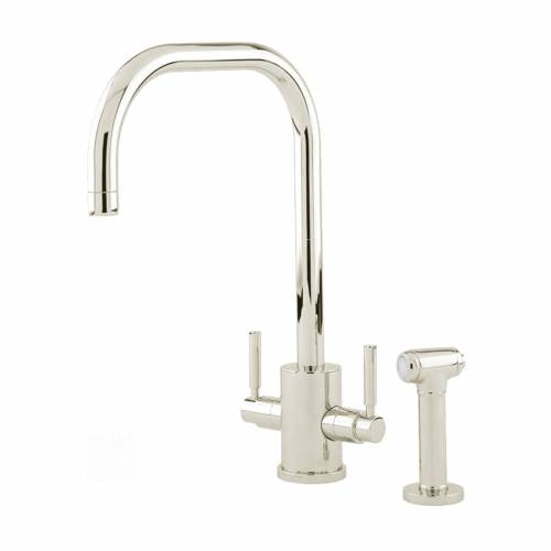 Perrin and Rowe ORBIQ 'U' Spout Kitchen Tap with Rinse in Nickel
