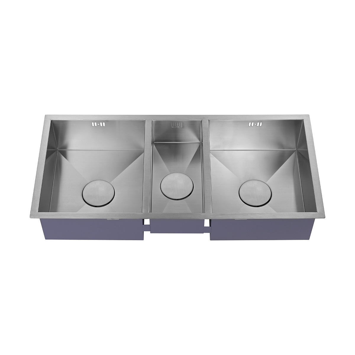 1810 company zentrio 2 5 bowl kitchen sink sinks for The kitchen sink company