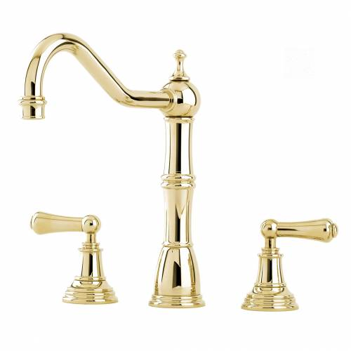 Perrin and Rowe 4771 Alsace Kitchen Tap in Gold