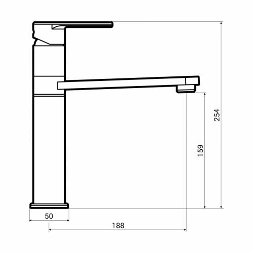 Abode Prime Single Lever Kitchen Tap Dimensions