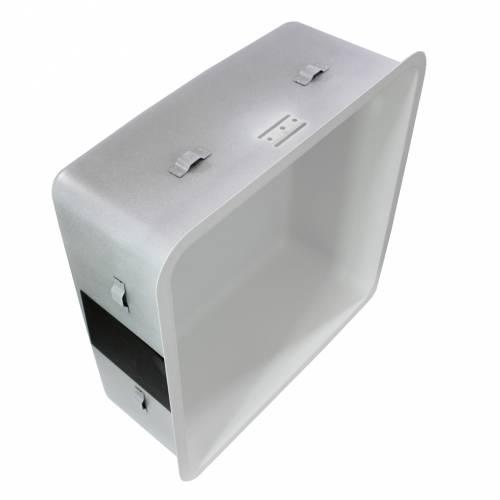 Reginox Regi-Color OHIO 40x40 Single Bowl Sink - Arctic White showing clips