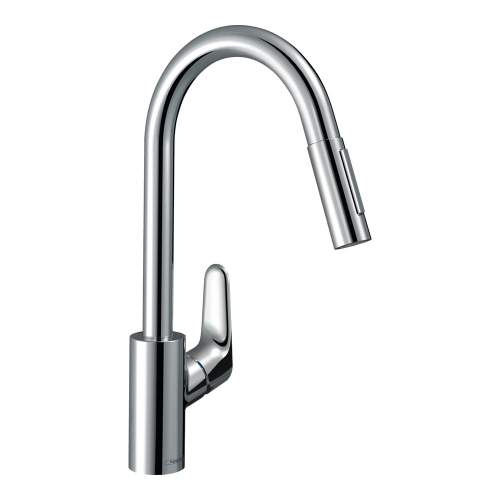 Hansgrohe FOCUS 240 Kitchen Mixer Tap with Pull-Out Spray in Chrome