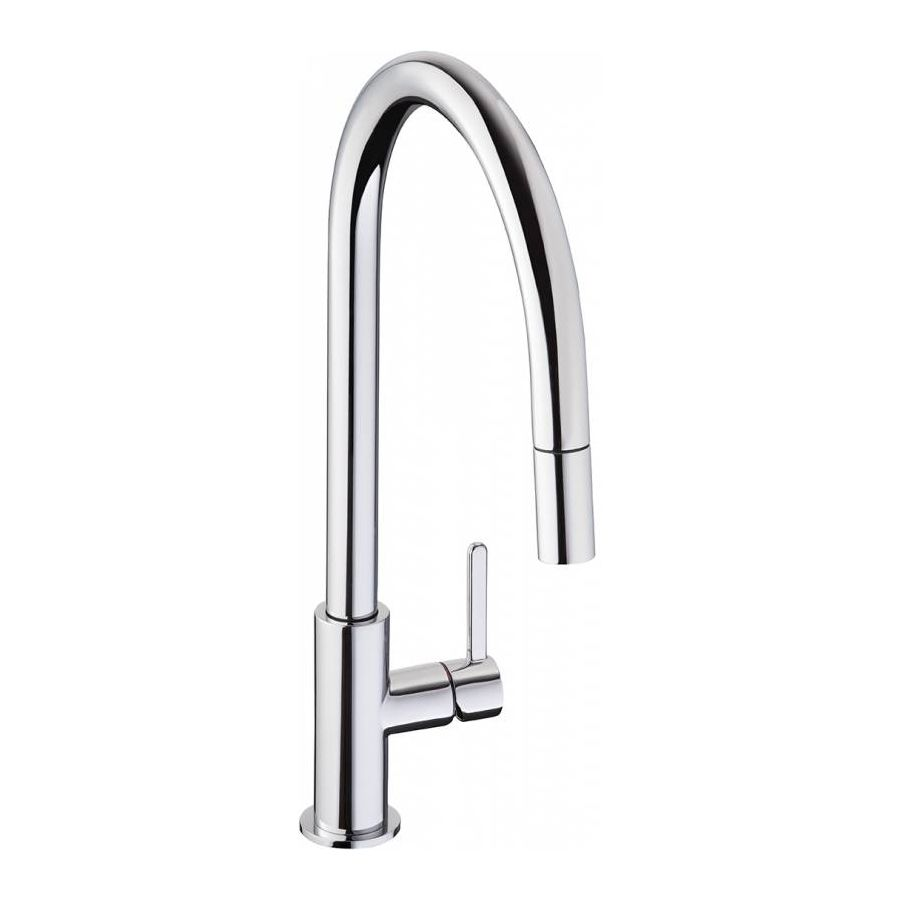 Abode Althia Pull Out Spray Kitchen Tap In Chrome