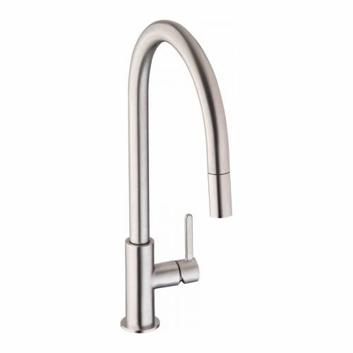 Abode ALTHIA Pull Out Spray Kitchen Tap in Brushed