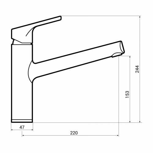 Abode Mercury Single Lever Kitchen Tap Dimensions