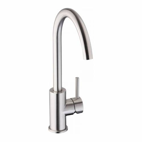 Abode Zorb Single Lever Stainless Steel Kitchen Tap