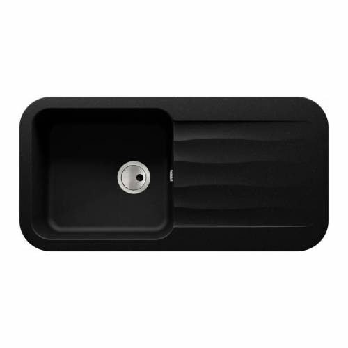 Abode DUNE 1.0 Bowl Granite Kitchen Sink in Black