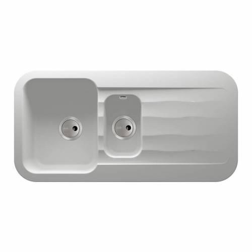 Abode DUNE 1.5 Bowl Granite Kitchen Sink in White