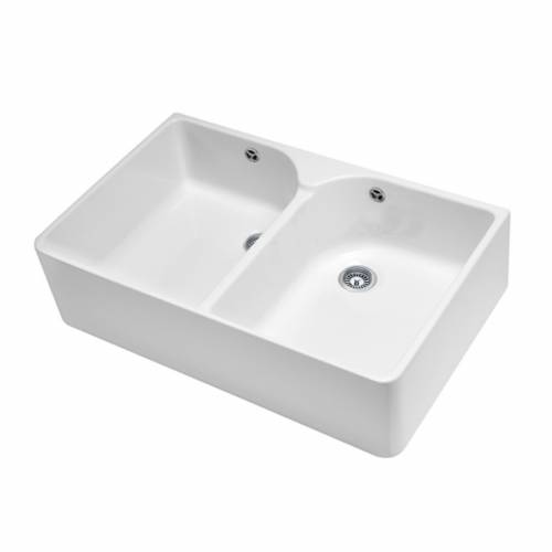 FARMHOUSE 80 Double Bowl Belfast Sink