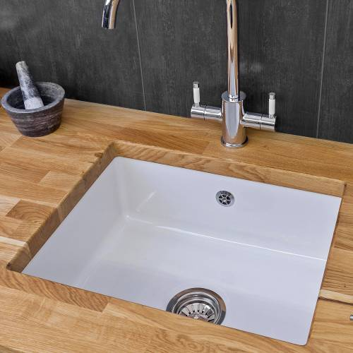 Reginox MATARO Single Bowl Ceramic Undermount Kitchen Sink Lifestyle