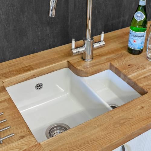 Reginox TUSCANY 1.5 Bowl Ceramic Undermount Kitchen Sink Lifestyle