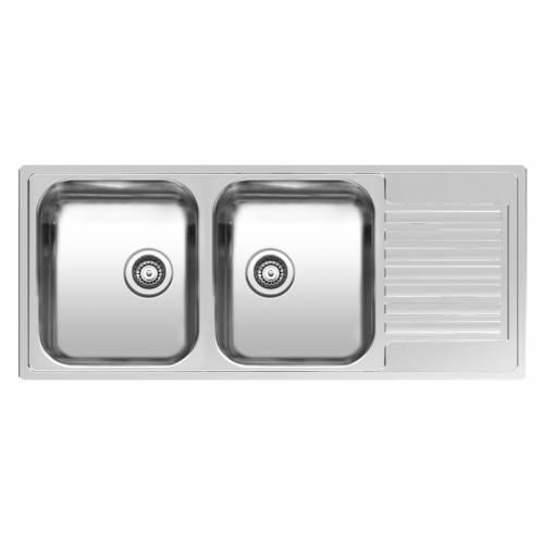 Reginox CENTURIO L30 Double Bowl Kitchen Sink with Drainer - R19627