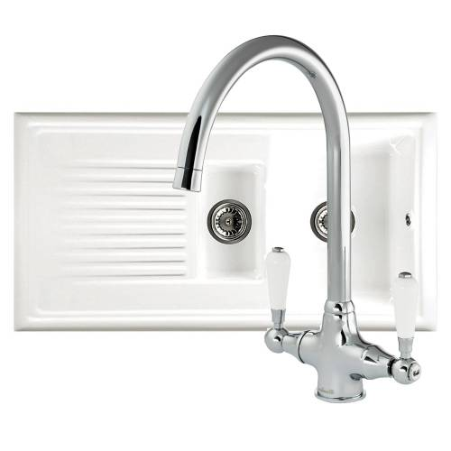 Reginox Lux Kitchen Sink with Elbe Kitchen Tap