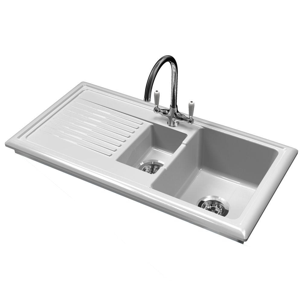 Reginox Rl301cw Ceramic Sink And Elbe Tap Sinks Taps Com