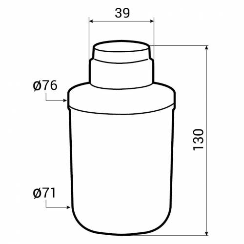 Caple Replacement Filter (FILTER/CAFF205) Tech Drawing