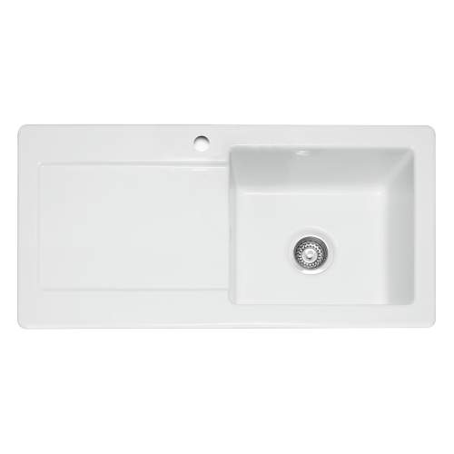 Caple Foxboro 100 Ceramic Single Bowl Sink LH Drainer