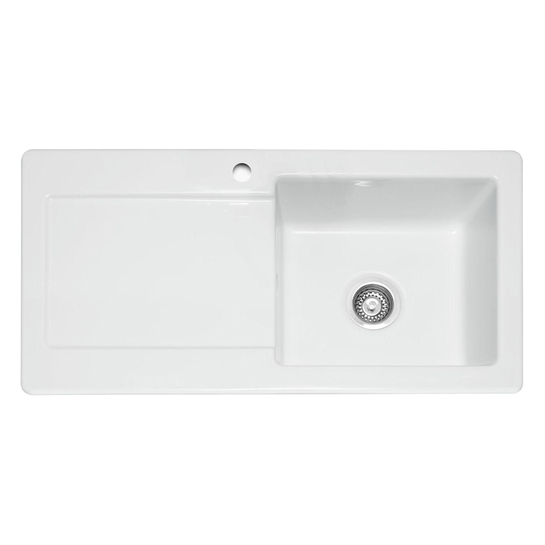 Caple Foxboro 100 Ceramic Single Bowl Sink - Sinks-Taps.com