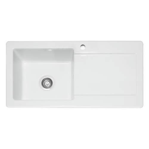 Caple Foxboro 100 Ceramic Single Bowl Sink RH DRainer