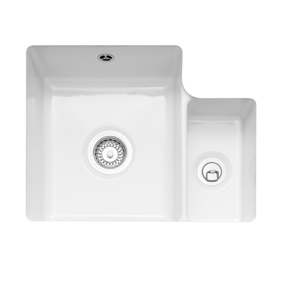 Caple ettra 150 ceramic undermount kitchen sink sinks - Undermount ceramic kitchen sink ...