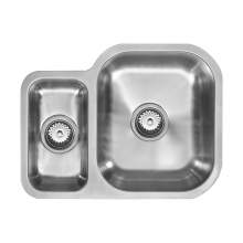 1810 Company ETRODUO 589/450U Undermount Kitchen Sink