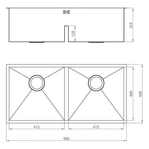 1810 Company ZENDUO 415/415U DEEP Undermount Kitchen Sink