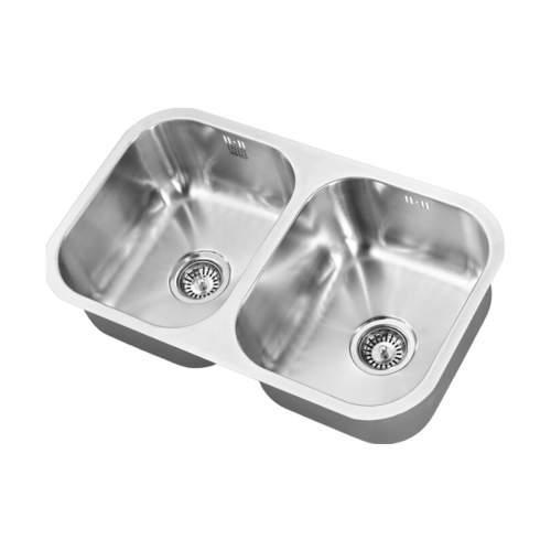 1810 Company ETRODUO 340/340U Undermount Kitchen Sink