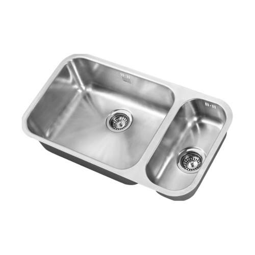 1810 Company ETRODUO 535/191U Undermount Kitchen Sink