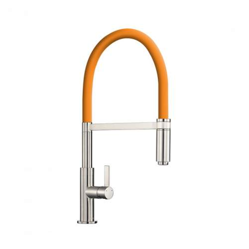 1810 Company Spirale Tap in Brushed Steel with Flexible Hose