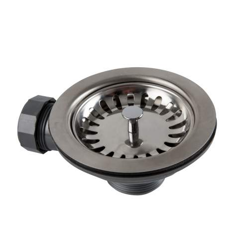 1810 Company Basket Strainer Waste with O-Flow in Chrome