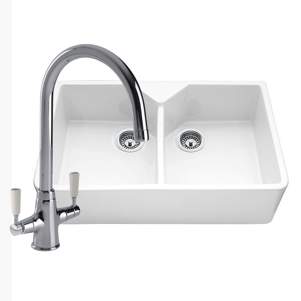 kitchen sinks taps bowl ceramic kitchen sink with free tap sinks 6052