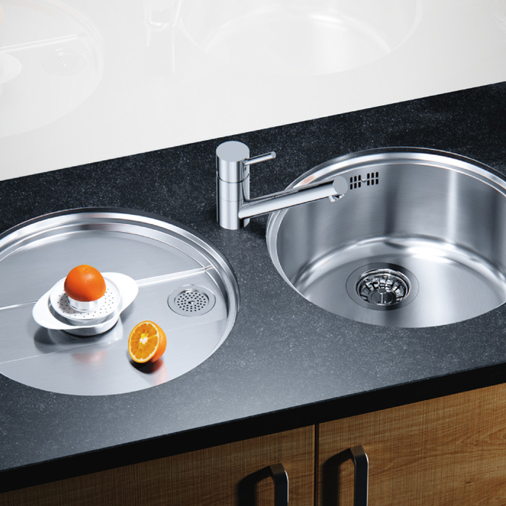 Blanco RONDO-U SET Round Sink & Drainer - Sinks-Taps.com
