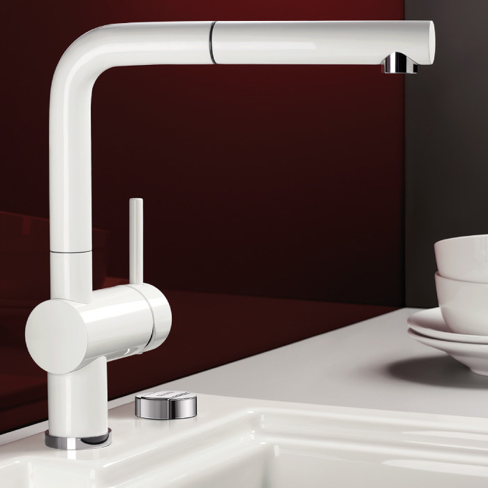 blanco linus s kitchen tap with pull out spray sinks. Black Bedroom Furniture Sets. Home Design Ideas