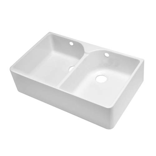 FARMHOUSE 80 Double Bowl Belfast Sink with No Wastes