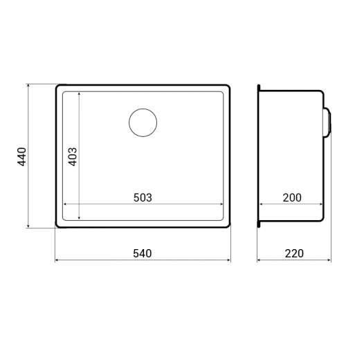 Reginox New York 50x40 Single Bowl Sink